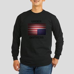 Under Distress Long Sleeve Dark T-Shirt