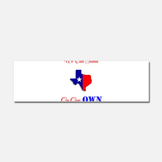 On Our Own Car Magnet 10 x 3