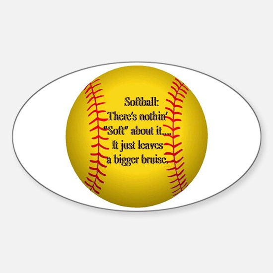 """Girls Fastpitch Softball"" Sticker (Oval)"