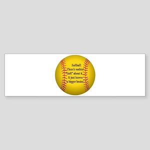 """""""Girls Fastpitch Softball"""" Sticker (Bumper)"""