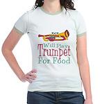 Will Play Trumpet Jr. Ringer T-Shirt