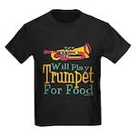 Will Play Trumpet Kids Dark T-Shirt