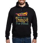 Will Play Trumpet Hoodie (dark)