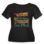 Will Play Trumpet Women's Plus Size Scoop Neck Dar