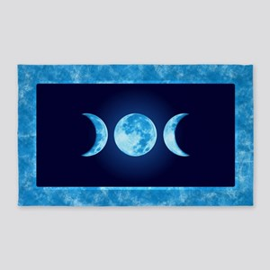 Three Phase Moon 3'x5' Area Rug