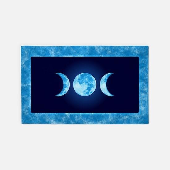Three Phase Moon 3'x5' Area Rug