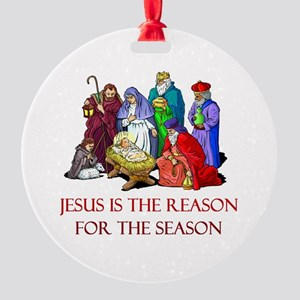 Christmas Jesus is the reason for the season Round