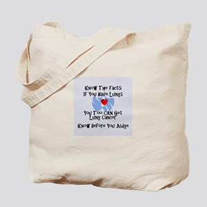 lung cancer awareness Tote Bag