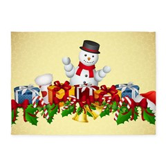 Holiday Snowman 5'x7'Area Rug