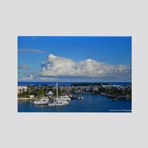 Royal Nava Dockyard and Clouds Rectangle Magnet