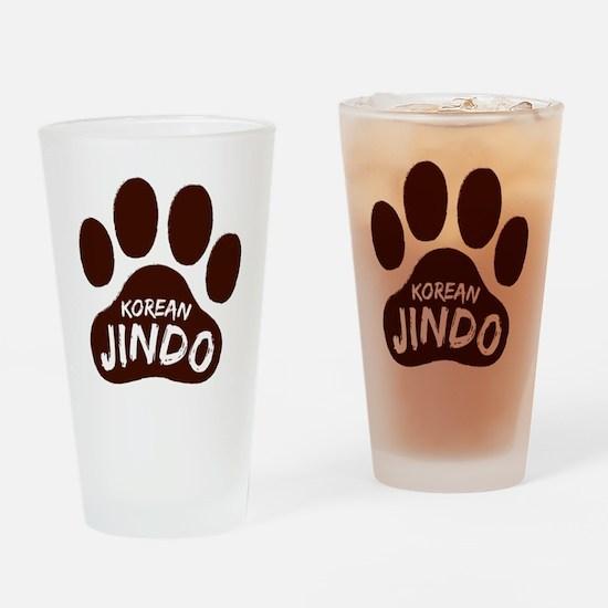 Korean Jindo Paw Print Drinking Glass