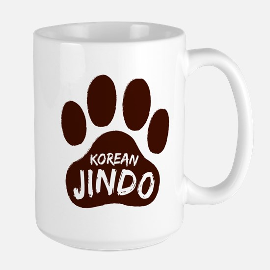 Korean Jindo Paw Print Large Mug