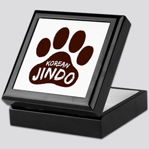 Korean Jindo Paw Print Keepsake Box