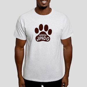 Korean Jindo Paw Print Light T-Shirt