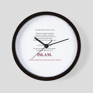 Islam. The Feminist Religion Wall Clock