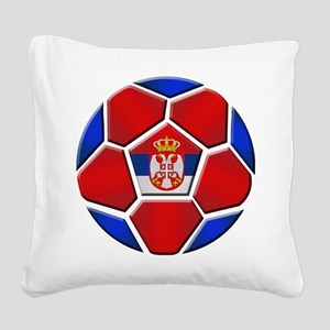 Serbia Soccer Football Square Canvas Pillow