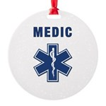 medic star of life.... Round Ornament