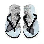 Norwegian Elkhound Flip Flops