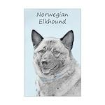 Norwegian Elkhound Mini Poster Print