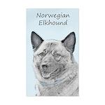 Norwegian Elkhound Sticker (Rectangle)
