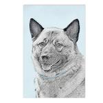 Norwegian Elkhound Postcards (Package of 8)