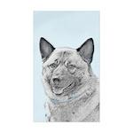 Norwegian Elkhound Sticker (Rectangle 50 pk)