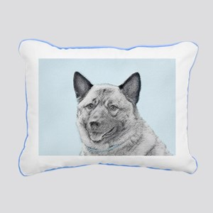 Norwegian Elkhound Rectangular Canvas Pillow
