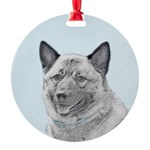 Norwegian Elkhound Round Ornament