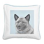 Norwegian Elkhound Square Canvas Pillow