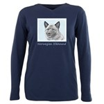 Norwegian Elkhound Plus Size Long Sleeve Tee