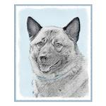Norwegian Elkhound Small Poster