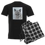 Norwegian Elkhound Men's Dark Pajamas