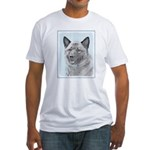 Norwegian Elkhound Fitted T-Shirt