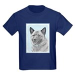 Norwegian Elkhound Kids Dark T-Shirt