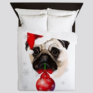 A Very Merry Christmas Pug Queen Duvet