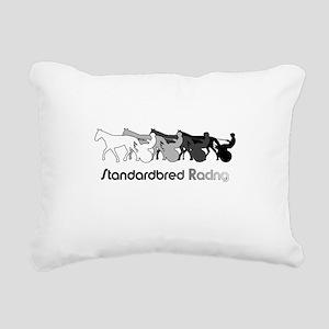 Racing Silhouette Rectangular Canvas Pillow
