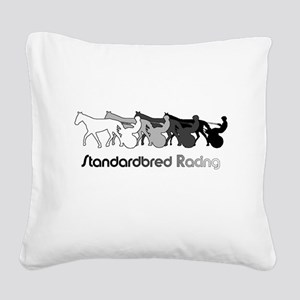 Racing Silhouette Square Canvas Pillow