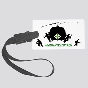 4th INFANTRY DIVISION Large Luggage Tag