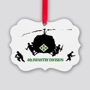 4th INFANTRY DIVISION Picture Ornament