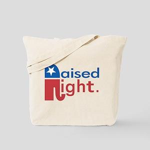Raised Right Tote Bag