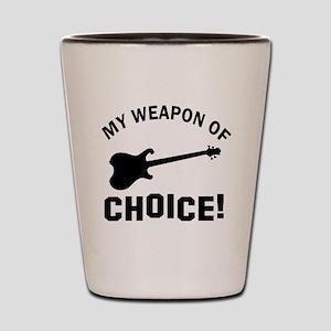Electronic Guitar Weapon Of Choice Shot Glass