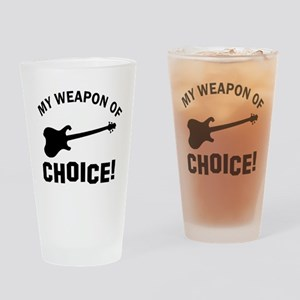 Electronic Guitar Weapon Of Choice Drinking Glass