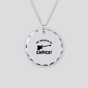 Electronic Guitar Weapon Of Choice Necklace Circle