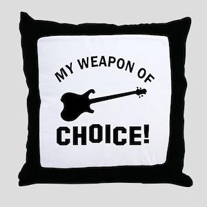 Electronic Guitar Weapon Of Choice Throw Pillow