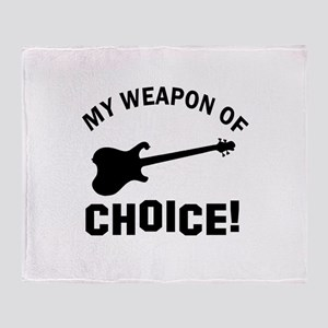 Electronic Guitar Weapon Of Choice Throw Blanket