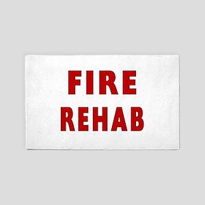 fire rehab sign 3'x5' Area Rug