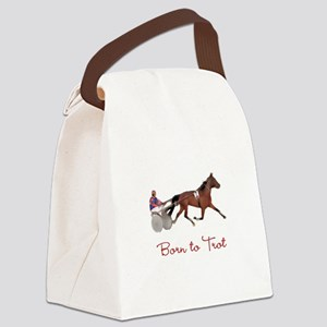 Born to Trot Canvas Lunch Bag