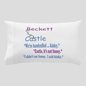 Beckett Castle Handcuffed Quote Pillow Case