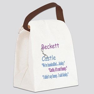 Beckett Castle Handcuffed Quote Canvas Lunch Bag