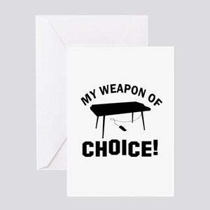 Keyboard Weapon Of Choice Greeting Card